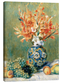 Canvastavla  Still Life with Fruit and Flowers - Pierre-Auguste Renoir