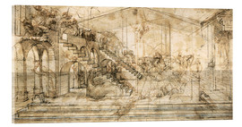 Akrylglastavla  Perspective Study for the background of the Adoration of the Magi - Leonardo da Vinci