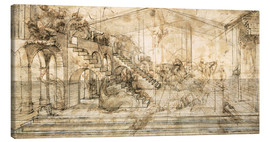 Canvastavla  Perspective Study for the background of the Adoration of the Magi - Leonardo da Vinci
