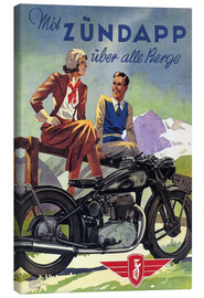 Canvastavla  With Zündapp over the hills (German) - Advertising Collection