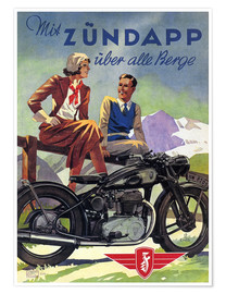 Premiumposter  With Zündapp over the hills (German) - Advertising Collection