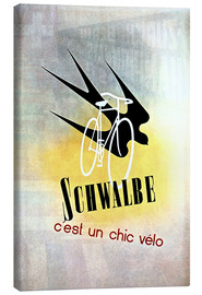 Canvastavla  Bicycles - Schwalbe, cest un chic velo - Advertising Collection