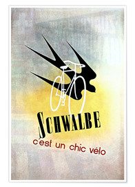 Premiumposter  Bicycles - Schwalbe, cest un chic velo - Advertising Collection