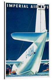 Aluminiumtavla  Imperial Airways - seaplane - Travel Collection