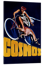 Akrylglastavla  Cosmos bicycles - Advertising Collection