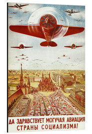 Aluminiumtavla  Aircraft parade on Moscow - Advertising Collection