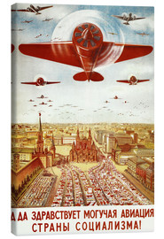 Canvastavla  Aircraft parade on Moscow - Advertising Collection