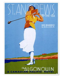 Premiumposter  St. Andrews - Golf - Advertising Collection