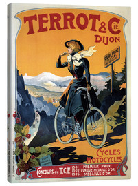 Canvastavla  Terrot & Cie Dijon bicycles and motorcycles - Advertising Collection