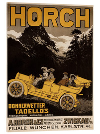 Akrylglastavla  Horch Cars - Gosh perfectly - Advertising Collection