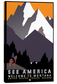 Canvastavla  See America - Welcome to Montana - Travel Collection