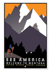 Premiumposter  See America - Welcome to Montana - Travel Collection