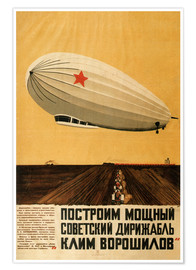 Premiumposter  Russian Zeppelin - Travel Collection