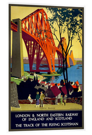 Akrylglastavla  Forth Bridge London Railway - Travel Collection