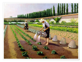 Premiumposter  The Gardeners - Gustave Caillebotte