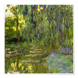 Premiumposter Weeping Willow, The lily pond in Giverny