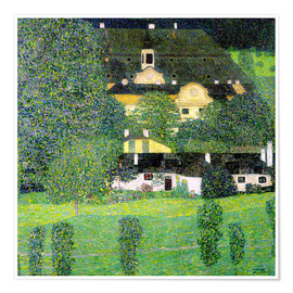 Premiumposter  Kammer Castle on Lake Attersee II - Gustav Klimt