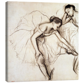 Canvastavla  Two dancers resting - Edgar Degas