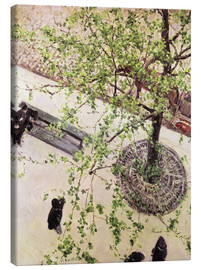 Canvastavla  Boulevard from above - Gustave Caillebotte