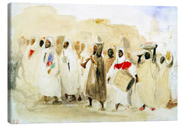 Canvastavla  Procession of Musicians in Tangier - Eugene Delacroix