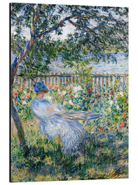 Aluminiumtavla  The Terrace at Vétheuil - Claude Monet