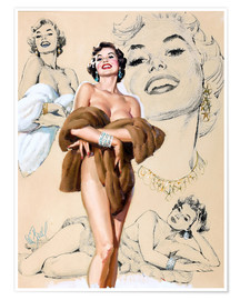 Premiumposter  Glamour Pin Up study - Al Buell