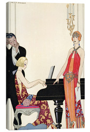 Canvastavla  Incantation, illustration för Gazette du Bon Ton, 1922 - Georges Barbier