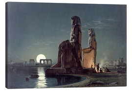 Canvastavla  The Colossi of Memnon, Thebes - Carl Friedrich Heinrich Werner