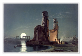 Premiumposter  The Colossi of Memnon, Thebes - Carl Friedrich Heinrich Werner