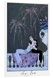PVC-tavla  The Fire - Georges Barbier