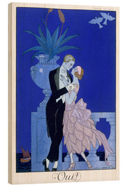 Trätavla  Yes! 1921 - Georges Barbier
