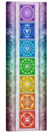 Canvastavla  The Seven Chakras - Series II -Artwork II - Dirk Czarnota