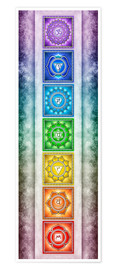 Premiumposter  The Seven Chakras - Series II -Artwork II - Dirk Czarnota