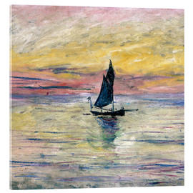 Akrylglastavla  Sailboat evening - Claude Monet
