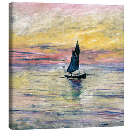 Canvastavla  Sailboat evening - Claude Monet