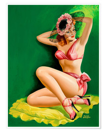 Premiumposter  Pin Up with Hat - Peter Driben