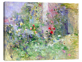 Canvastavla  The Garden at Bougival - Berthe Morisot