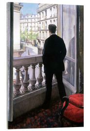 Akrylglastavla  Man at the Window - Gustave Caillebotte