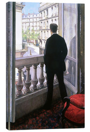 Canvastavla  Man at the Window - Gustave Caillebotte