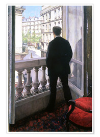 Premiumposter  Man at the Window - Gustave Caillebotte