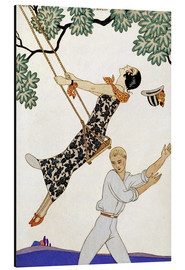 Aluminiumtavla  The Swing, 1920s - Georges Barbier