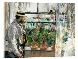 Akrylglastavla  Manet on the Isle of Wight - Berthe Morisot