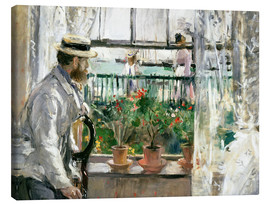Canvastavla  Manet on the Isle of Wight - Berthe Morisot