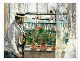 Premiumposter  Manet on the Isle of Wight - Berthe Morisot