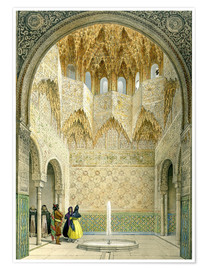 Premiumposter  The Hall of the Abencerrages, the Alhambra, Granada, 1853 - Léon Auguste Asselineau
