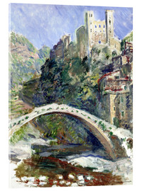 Akrylglastavla  Castle of Dolceacqua - Claude Monet