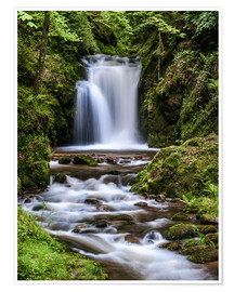 Premiumposter  Waterfall of Geroldsau, Black Forest - Andreas Wonisch
