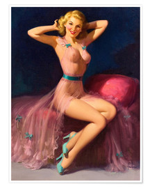 Premiumposter  Pin Up in Pink - Art Frahm