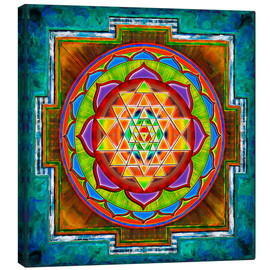 Canvastavla  Intuition Sri Yantra - Artwork II - Dirk Czarnota