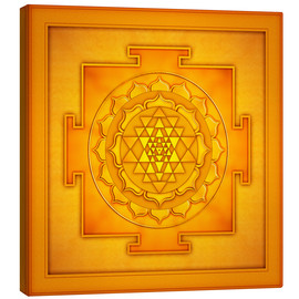 Canvastavla  Golden Sri Yantra - Artwork II - Dirk Czarnota
